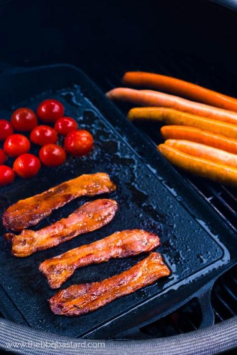 Engelse ontbijt hotdog