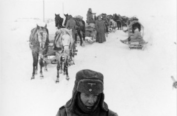 Picture by an anonymous German soldier. Eastern front, Soviet Union, early 1940s.