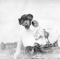 Double exposure by the Dutch photographer P. H. van Son made in Natchitoches, Louisiana, USA in the 1910s. In the early 20th century, P. H. van Son, who originated from the town of Oirschot in the province of Brabant, the Netherlands, lived and worked in Louisiana for some years.