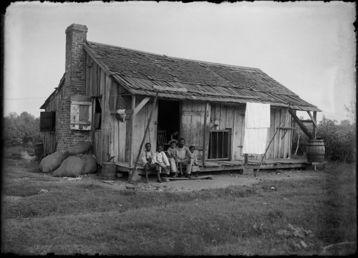 Portrait of an unknown family somewhere near Natchitoches, Louisiana, USA, by the Dutch photographer P. H. van Son in the 1910s. In the early 20th century, P. H. van Son, who originated from the town of Oirschot in the province of Brabant, the Netherlands, lived and worked in Louisiana for some years.