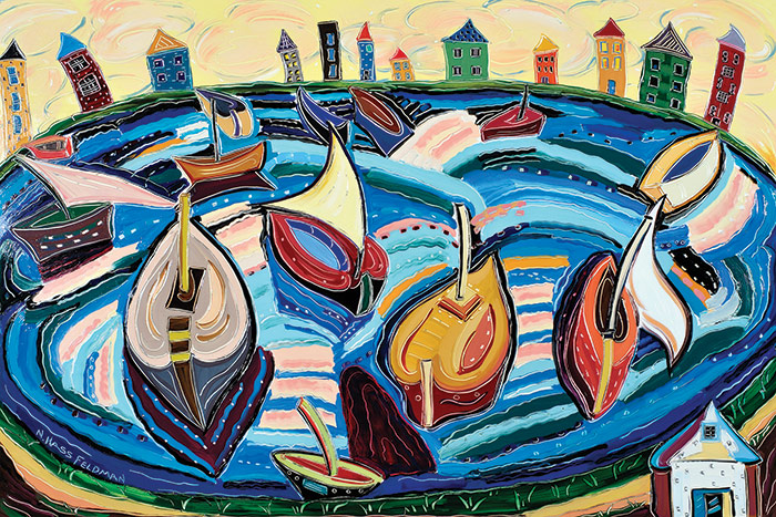 Oil painting by Nan Hass Feldman
