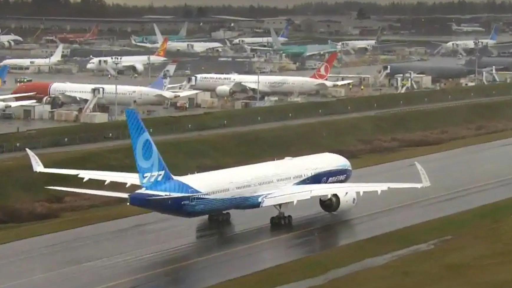 Despega desde EU el Boeing 777X para su vuelo de estreno