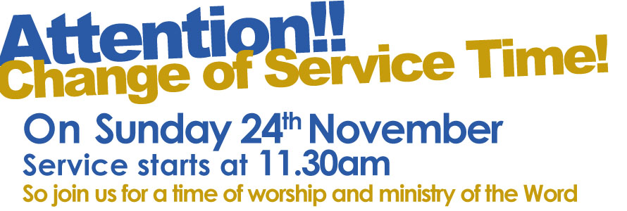 Change to Sunday Service Time