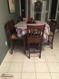 Pub style table & 6 Chairs - Goulds, Newfoundland