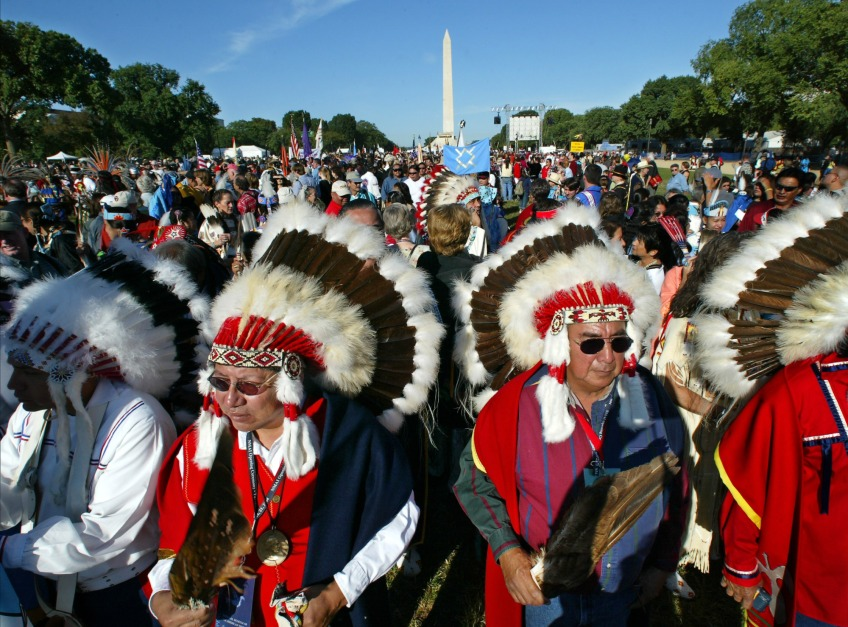 The National Museum of the American Indian opens