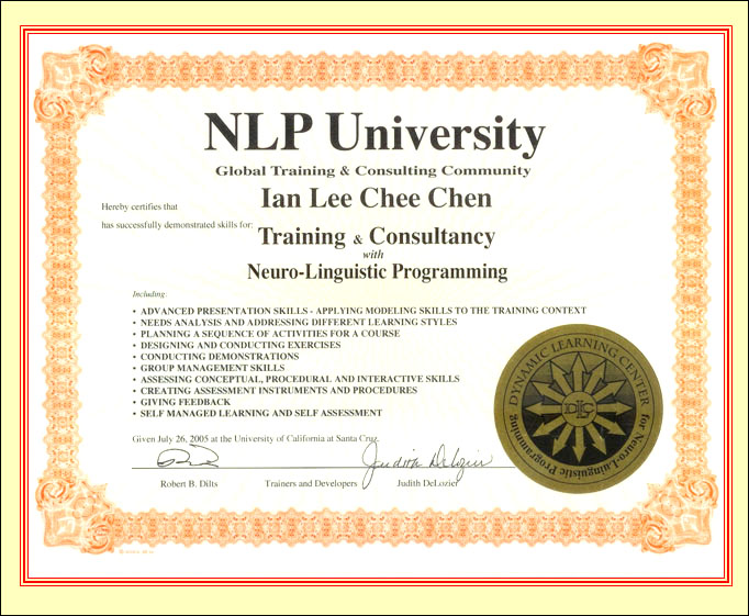 About  NLP Meta Training  Consultancy