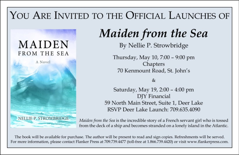 Book Launch Invitation Maiden From The Sea By Nellie P Strowbridge