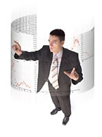Image of a man standing on front of a chart | NLP World.
