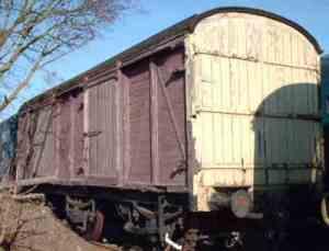 LMS 6 Wheeled CCT M35062 at Pitsford Station sidings Photo: John Bishop