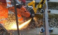 This operation generates heat and sparks and must only be done when using appropriate protection. Operatives should be covered up to protect against burns from hot debris. Flameproof clothing is preferable as otherwise the sparks can burn lots of holes in clothing. Safety footwear, gloves, and importantly eye protection, and ear defenders as this is also noisy. No point in taking shortcuts. Photo: Graham Peacock