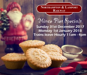 Mince Pie Specials Dec 2017 - Jan 2018 @ Northampton and Lamport Railway | Chapel Brampton | England | United Kingdom