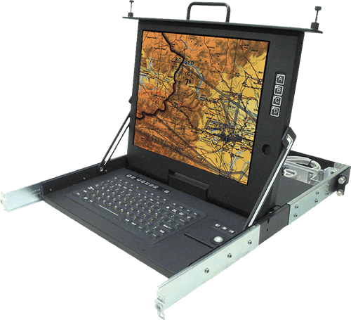 RFT2-2L-24-DVI-USB RACKSLIDE PULL-OUT KVM DISPLAYS (RTF/CSC)