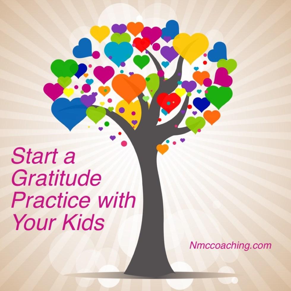 Gratitude tree. Start practicing gratitude with your kids