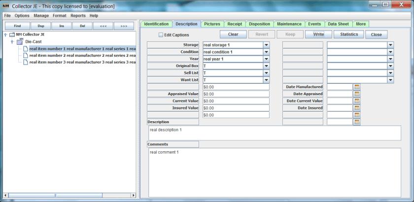 NM Collector Software Import Result Description