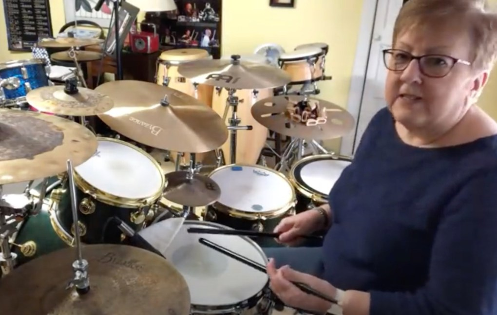 Watch drumming grandma perform covers of songs by Slipknot, Paramore and Disturbed, Shop Ticket Snatchers