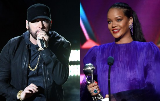 Eminem once recorded a song to the beat of Rihanna's Diamonds