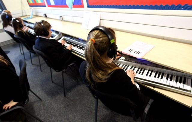 Music class at school