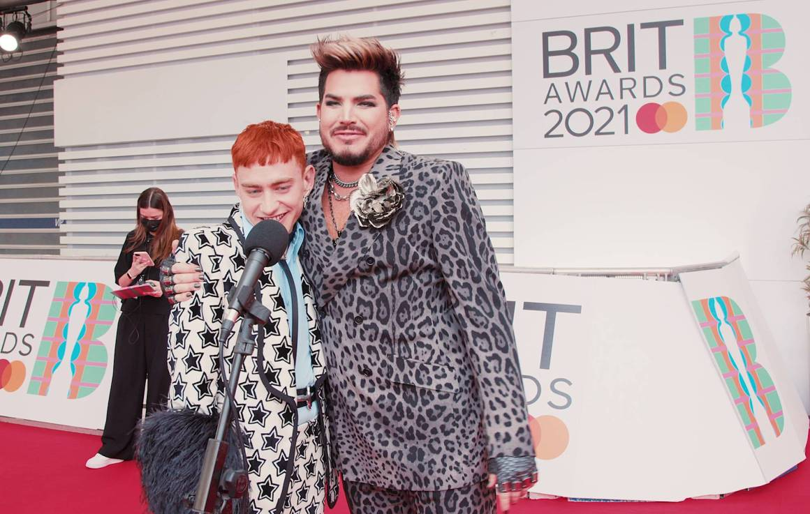 Years & Years' Olly Alexander with Adam Lambert at the BRITs 2021. Credit: NME