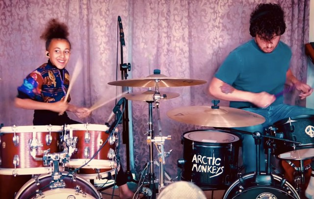 Nandi Bushell and Arctic Monkeys' Matt Helders