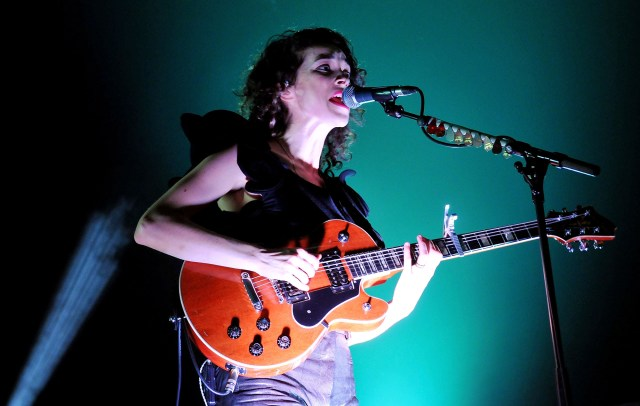 St. Vincent in 2012 performing in support of her album 'Strange Mercy'