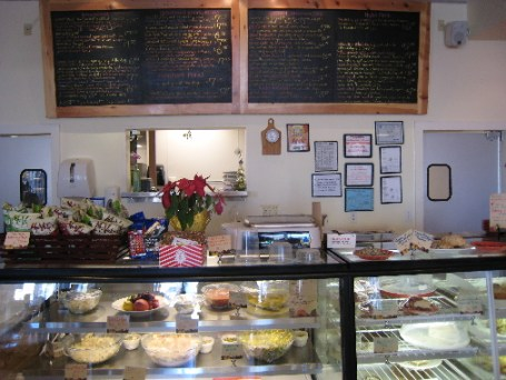 The deli counter and menu