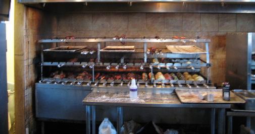 Rotisseries prepare meats