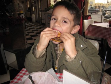 Seven-year old Stevie Sunday will tell you the Route 66 Malt Shop's burgers beat a Happy Meal any day...except on the day of the week named for him when the restaurant is closed.