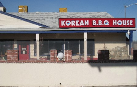 The Korean B.B.Q. House on Central Avenue.