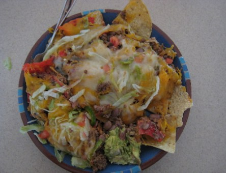 El Pinto's famous nachos, the best in America according to the Wall Street Journal.