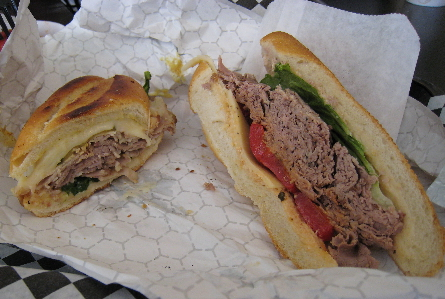 On the left, the 5th Street Grilled Cubano and on the right, The Rostisado.