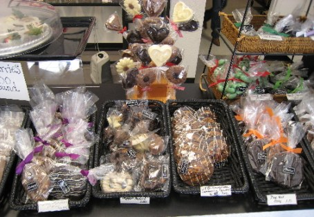 The display case at Theobroma