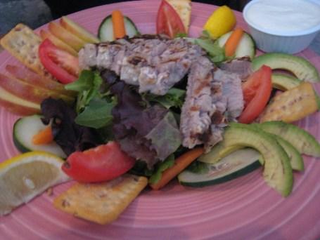 Yellowfin tuna salad.