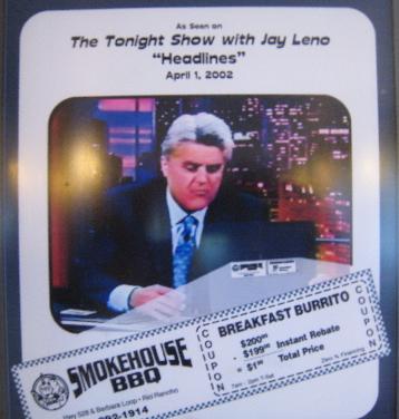 Jay Leno loves the Smokehouse