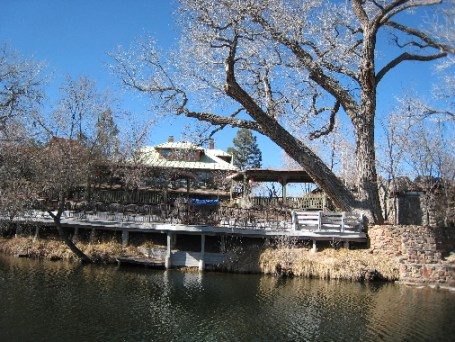 The Blue Herron Restaurant is part of the sprawling Sunrise Springs complex