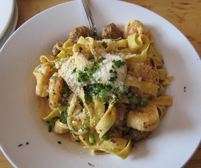 Fetuccini with a Cajun cream sauce