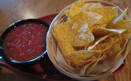 Chips and salsa are complimentary at La Casita Cafe
