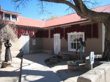 El Rancho de Chimayo's front courtyard.