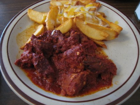 Carne adovada with potatoes
