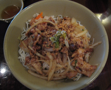 Lemongrass and chili with vermicelli