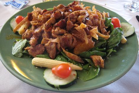 Blackened Natural Pork and Spinach Salad