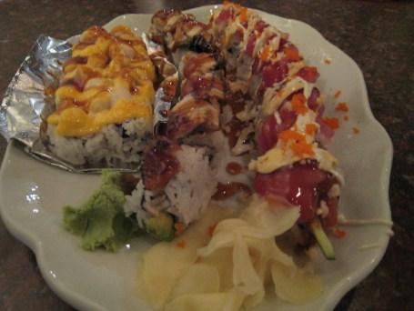 A briny boatload of sushi