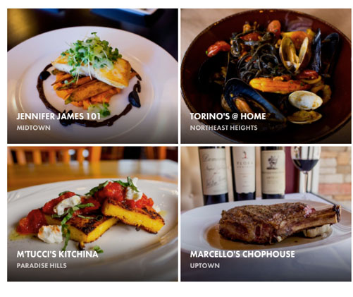 Four of the eight restaurants featured on Fubelly