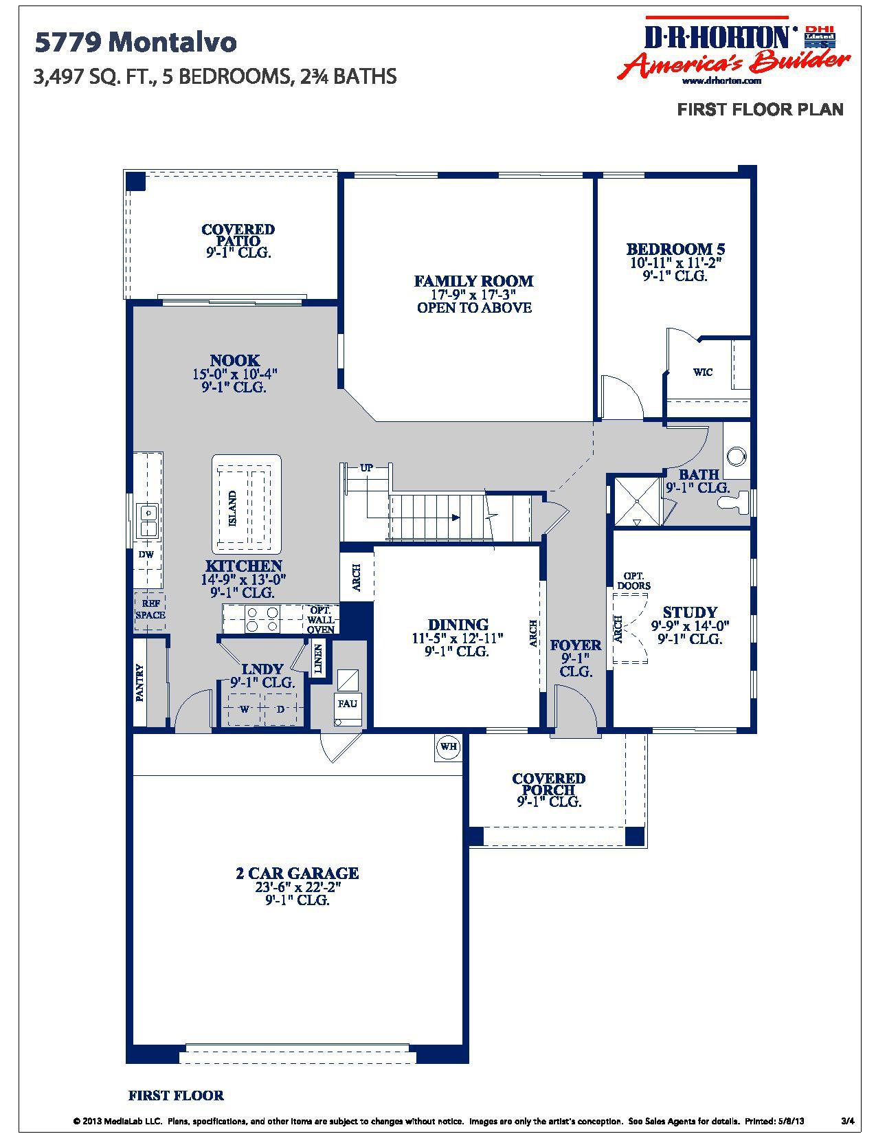 DR Horton Montalvo Floor Plan
