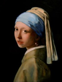 Girl with a Pearl Earring, a reproduction by Thomas Baker