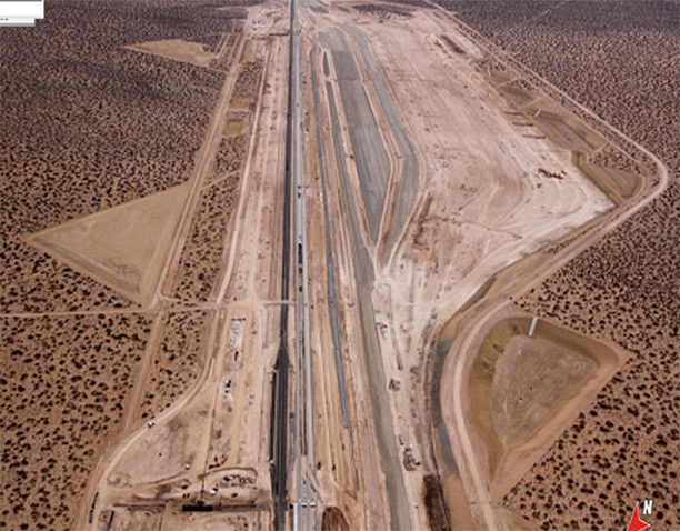 Aerial of Union Pacific Santa Teresa Project, February 2013.
