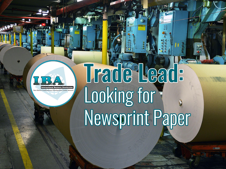 Trade Lead – Newsprint Paper