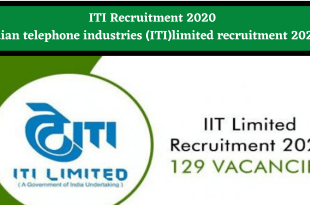 ITI Recruitment 2020
