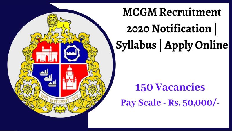 MCGM Recruitment 2020 Notification _ Syllabus _ Apply Online