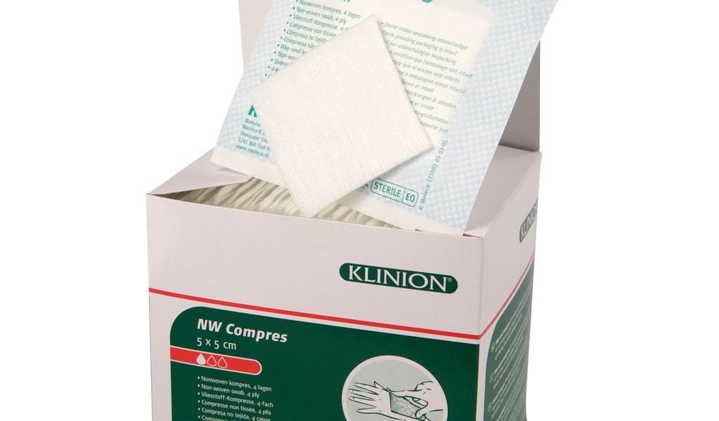Comprsses en non tissé stériles vue produit