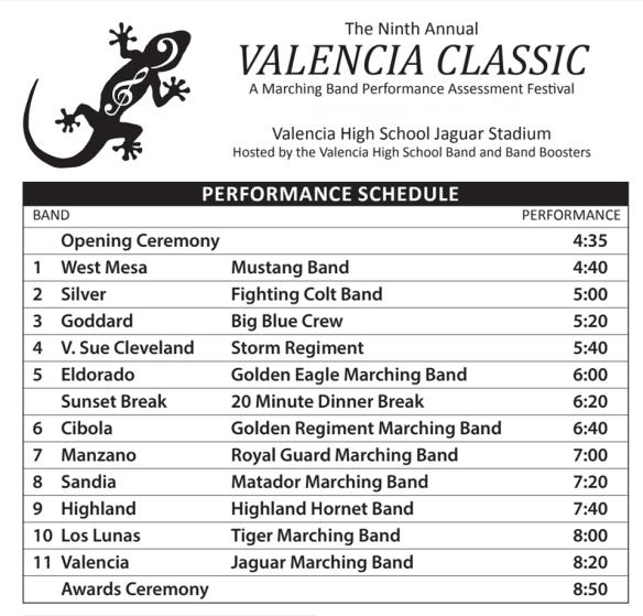 2019 Valencia Classic Final Schedule